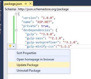ampule dans Visual Studio