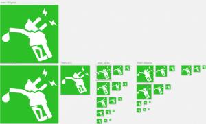une série d'icône